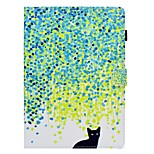 cheap -Case For Apple iPad 10.5 iPad (2017) Card Holder with Stand Flip Pattern Full Body Cat Hard PU Leather for iPad Pro 10.5 (2017) iPad 9.7