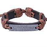 Men's Bracelet Vintage Rock Leather Alloy Circle Jewelry For Valentine Street