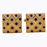 Недорогие -Прямоугольник Золотой Запонки Нарядная одежда Мода Повседневные Официальные Муж. Бижутерия