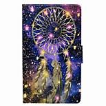 preiswerte -Traumfänger Muster Kartenhalter mit Stand magnetischen PU Ledertasche für Samsung Galaxy Tab a 8.0 (2017) T380 T385 8.0 Zoll Tablet