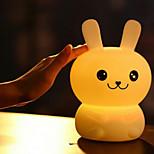 Недорогие -1шт LED Night Light Стресс и тревога помощи Перезаряжаемый Сенсорный датчик С портом USB Работает от USB Сенсорный 7-Color