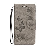 cheap -Case For Huawei Honor 9 Honor 8 Card Holder Wallet with Stand Flip Embossed Full Body Butterfly Hard PU Leather for Honor 9 Honor 8 Honor