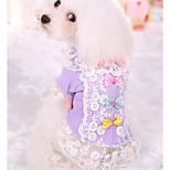 Недорогие -Собака Футболка Одежда для собак На каждый день Принцесса Лиловый Розовый Костюм Для домашних животных