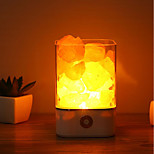 cheap -1pc USB Night Light Power Supply Natural Himalayan Salt Lamp Unique Crystal Salts Bedroom Light Decor Crafts