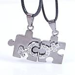 Муж. Ожерелья с подвесками , Геометрической формы Кожа Подарок Elegant Бижутерия Назначение Свадьба Обручение