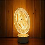 Недорогие -1 комплект 3d вечернего ночного духа настроения с подсветкой