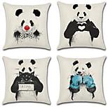 cheap -Set Of 4 Loveliness Panda Love Family Pillow Cover Creative 45*45Cm Cushion Cover Sofa Pillow Case