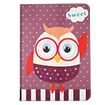 Case For Apple iPad 10.5 iPad (2017) with Stand Flip Pattern Auto Sleep/Wake Up Full Body Cartoon Animal Owl Hard Textile for iPad pro