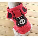 Недорогие -Собака Костюмы Толстовки Комбинезоны Одежда для собак модный Симпатичные Стиль Рождество В полоску Животные С принтом Зеленый Розовый