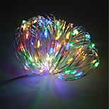 abordables -Impermeable 100 LED Luz de cadena 10M Blanco Cálido Blanco Fresco Rojo Azul Amarillo Verde Morado Decorativa Alimentado por USB