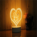 1 Set Of 3D Mood Night Light Hand Feeling Dimmable USB Powered Gift Lamp Propose