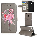 cheap -Case For Huawei P8 Lite P8 Lite (2017) P10 Lite Card Holder Wallet with Stand Flip Full Body Flamingo Hard PU Leather for P10 Lite P8