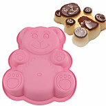 cheap -3D Silicone Cake Mold DlY Cartoon Bear Shape Bakeware Maker Mould Tray Baking Tools