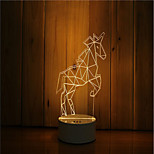 Недорогие -1 комплект 3d-настроение ночь светло-ручная работа с диммированием usb powered gift lamp wildebeest