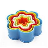 economico -6 pezzi / set 6 formati plum blossom teglia stampo in plastica muffa del biscotto utensili da cucina bakeware