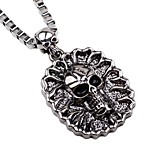 Men's Pendant Necklaces Chain Necklaces Alloy Pendant Necklaces Chain Necklaces , Rock Gothic Halloween Club