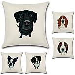 preiswerte -Satz von 5 kreativen 3d Hund Drucken Kissenbezug Tier Sofa Kissenbezug quadratischen Kissenbezug