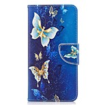 Недорогие -Кейс для Назначение OnePlus Кошелек Бумажник для карт со стендом Флип С узором Магнитный Чехол Бабочка Твердый Искусственная кожа для