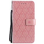 cheap -Case For Huawei P9 Lite P10 Lite Card Holder Wallet with Stand Embossed Full Body Solid Color Flower Hard PU Leather for P10 Lite P10 P9