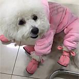 Недорогие -Кошка Собака Ботинки и сапоги Животные На каждый день Сохраняет тепло Однотонный Животные Коричневый Розовый Для домашних животных