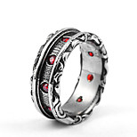 Men's Band Rings Cubic Zirconia Fashion Oversized Cool Titanium Steel Circle Jewelry Daily Street