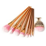 8 pcs Makeup Brush Set Pony Synthetic Hair Eco-friendly Professional Soft Synthetic Resin Eye Face Nose