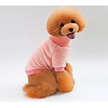 Недорогие -Кошка Собака Толстовка Одежда для собак новый На каждый день Сохраняет тепло Однотонный Синий Розовый Костюм Для домашних животных