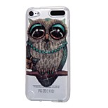 cheap -Case For Apple Ipod Touch5 / 6 Case Cover High Penetrating Powder IMD Gray Owl Soft TPU Phone Case