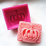 1 PC Crown Design Silicone Handmade Soap Cake Mold Bakeware Kitchen Tools