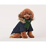 Недорогие -Кошка Собака Шарф для собаки Одежда для собак Стиль На каждый день Сохраняет тепло Однотонный Красный Зеленый Костюм Для домашних животных