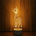 cheap -1 Set Of 3D Mood Night Light Hand Feeling Dimmable USB Powered Gift Lamp Deer