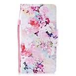 Недорогие -Кейс для Назначение Xiaomi Redmi Note 4X Redmi Note 4 Кошелек Бумажник для карт со стендом Флип С узором Магнитный Чехол Цветы Твердый