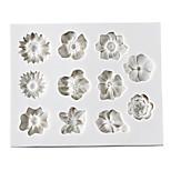 Недорогие -Формы для пирожных Круглый конфеты силикагель Праздник День рождения Новый год День Благодарения