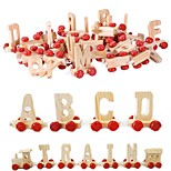 cheap -Brand New Wooden Alphabet Personalised Name Train Letters Kids Children Toy Gift