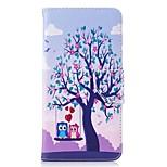 Недорогие -Кейс для Назначение OnePlus Кошелек Бумажник для карт со стендом Флип С узором Магнитный Чехол Сова Твердый Искусственная кожа для