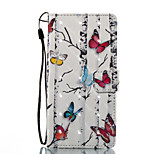 cheap -Case For Huawei P8 Lite (2017) P10 Lite Card Holder Wallet with Stand Flip Magnetic Pattern Full Body Butterfly Hard PU Leather for