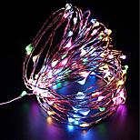 Недорогие -100 светодиоды Световой поток 10M Тёплый белый Холодный белый Фиолетовый Красный Синий Желтый Работает от USB