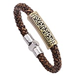 Men's Bracelet , Classic Elegant Leather Alloy Circle Jewelry For Going out Street