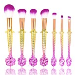 cheap -7 pcs Makeup Brush Set Blush Brush Eyeshadow Brush Lip Brush Powder Brush Foundation Brush Nylon Full Coverage Plastic Face