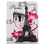 cheap -Case For Apple iPad Air 2 iPad mini 4 Card Holder Wallet with Stand Full Body Eiffel Tower Hard PU Leather for iPad Pro 9.7'' iPad Air 2