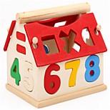Недорогие -Конструкторы Математические игрушки Обучающая игрушка Игрушки деревянный Вертикальный дизайн Новинки Геометрической формы Алфавит