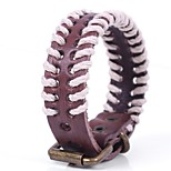 cheap -Men's Bracelet , Simple Casual Basic Cord Leather Alloy Circle Jewelry Other Daily
