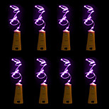 8pcs BRELONG 15 LED Wine Bottle Copper Copper For Christmas Wedding Party Decorations
