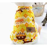 Собака Свитера Одежда для собак На каждый день Реактивная печать Оранжевый Синий Костюм Для домашних животных