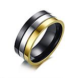 Недорогие -Муж. Классические кольца , Простой На каждый день Мода Нержавеющая сталь Круглый Бижутерия Повседневные Официальные