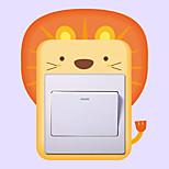 Недорогие -Животные Мода Наклейки Простые наклейки Декоративные наклейки на стены Наклейки для выключателя света, Винил Украшение дома Наклейка на