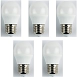 abordables -5pcs 4W E27 Bombillas LED de Globo G45 6 leds SMD 3528 Luces LED Blanco Fresco 325lm 6400K AC 180-240V