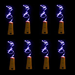 8pcs BRELONG 20 LED Wine Bottle Copper Copper For Christmas Wedding Party Decorations
