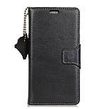 Недорогие -Кейс для Назначение OnePlus Кошелек Бумажник для карт Флип Чехол Сплошной цвет Твердый Натуральная кожа для One Plus 5 OnePlus 5T