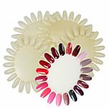Недорогие -5шт 20 отображать колеса лака для ногтей цвета показать карту шаблона практика естественные ложные советы ногтей наклейки полировка ур
